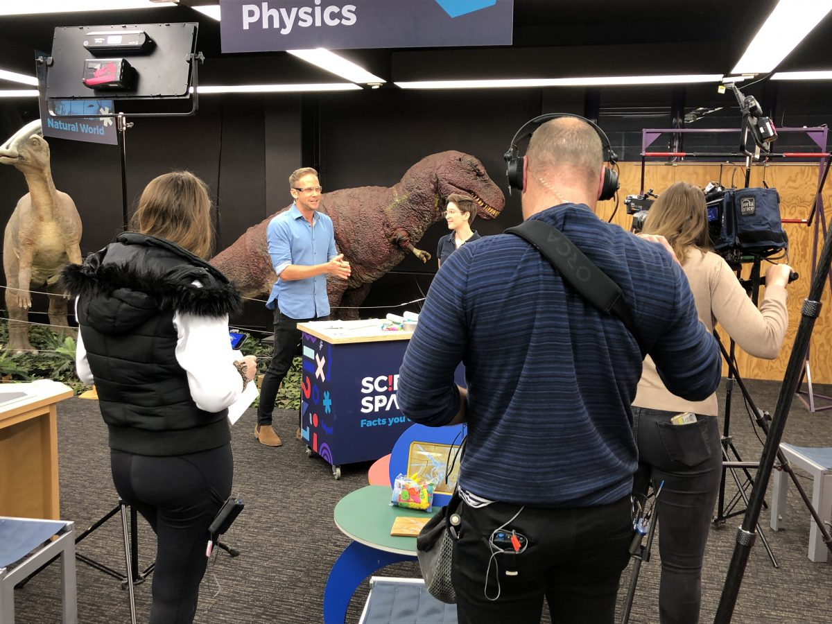 Virtual STEM Learning Science Space Wollongong Channel 9 TODAY show